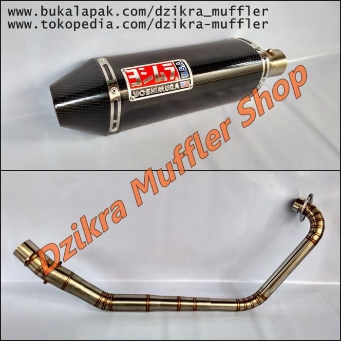 Foto Produk Knalpot Yoshimura USA carbon for Byson/R15/Scorpio/Vixion/Xabre/GSX dari Dzikra Muffler Shop