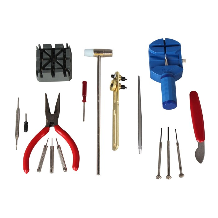 harga Alat Set Service Jam Tangan Tools Kit Watch Pemotong Rantai Lepas Tali Tokopedia.com