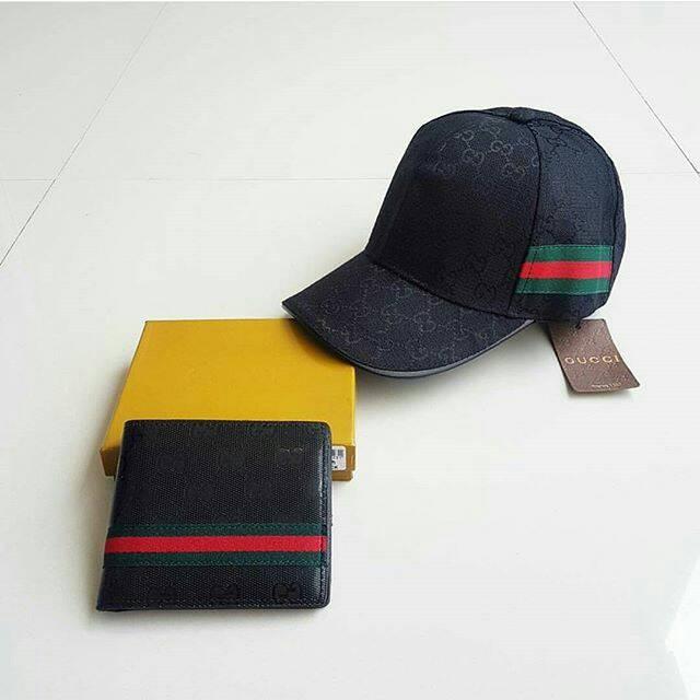 Paket Topi + Dompet Gucci Emboss 2 Warna ( Termurah Se - Tokopedia ) ... f049d69ce4