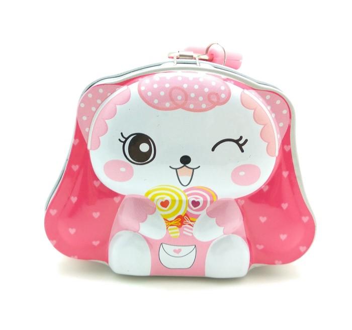 Celengan Kaleng Mini Gembok Karakter Cute Doll / Souvenir / Kado .