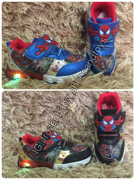 harga Sepatu lampu spiderman / sepatu led anak / sepatu led spiderman hitam Tokopedia.com