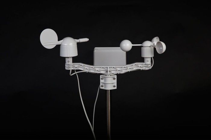 harga Weather station with anemometer, wind vane, rain bucket and humidity Tokopedia.com