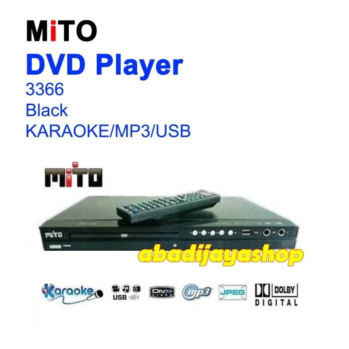 MITO DVD PLAYER 3366 - BLACK USB / KARAOKE (GARANSI RESMI)