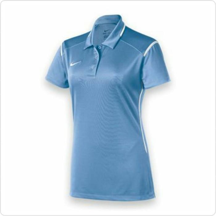 3e9c32f2 Kaos Kerah Cewek Nike Team Gameday Polo DRI-FIT 100% Original - Biru Muda, L