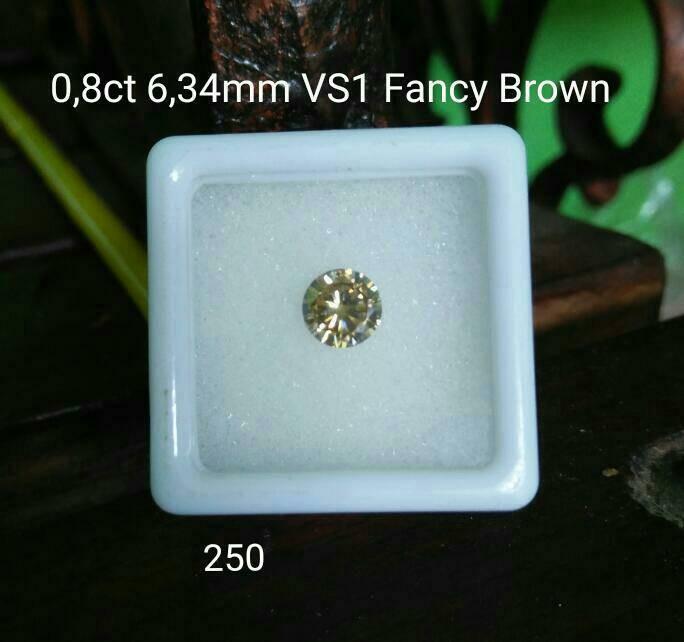 harga Diamond moissanite 079ct 633mm vs2 fancy brown Tokopedia.com