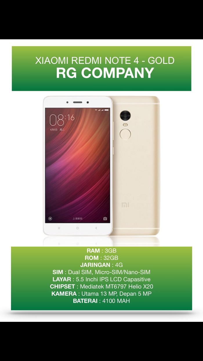 Jual Hot Xiaomi Redmi Note 4 Ram 3gb Rom 32gb Gold Garansi 1 Smartphone Distributor Tahun