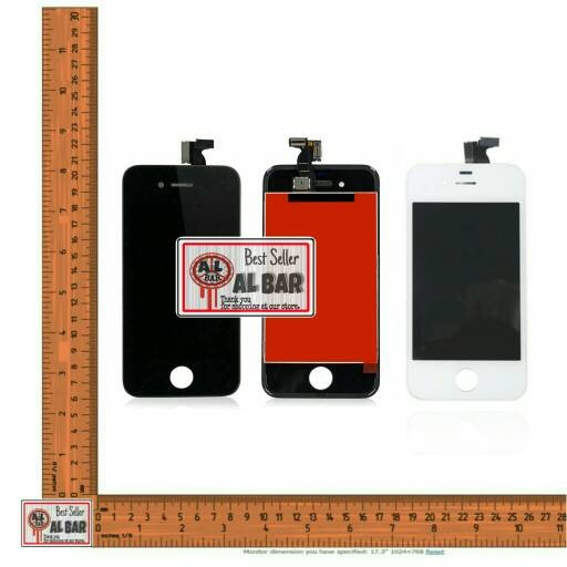 harga Frame + lcd touchscreen iphone 4 4s 4g 4c cdma original 100% Tokopedia.com