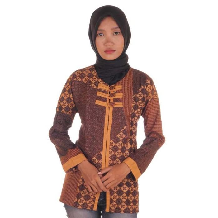 harga Blouse batik i blouse kerja wanita batik i blus batik wanita ranita Tokopedia.com