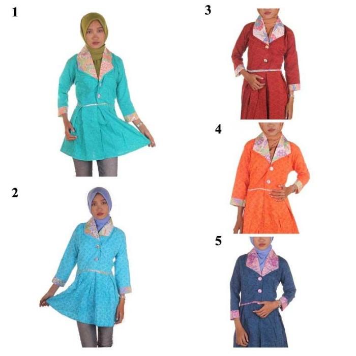 harga Blus batik embos i tunik blus tunik i blouse tunik embos yana Tokopedia.com