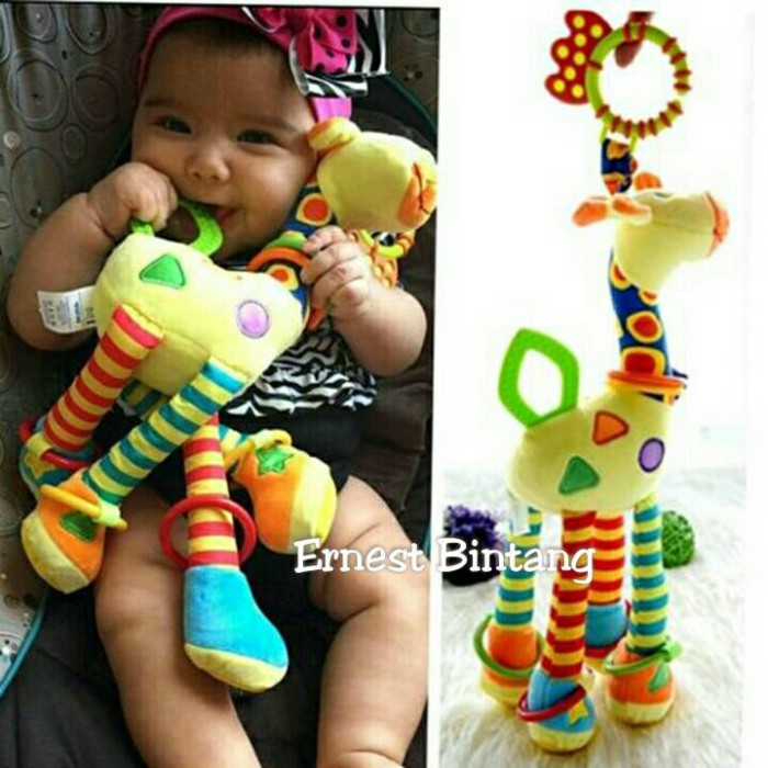 harga Happy monkey teether giraffe mainan anak bayi edukasi boneka jerapah Tokopedia.com