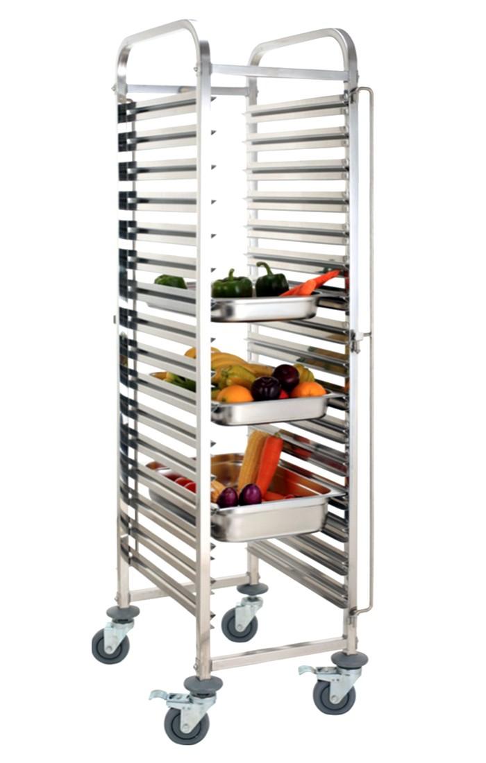 harga trolley makanan 15 susun  stainless steel  rtp-15 Tokopedia.com