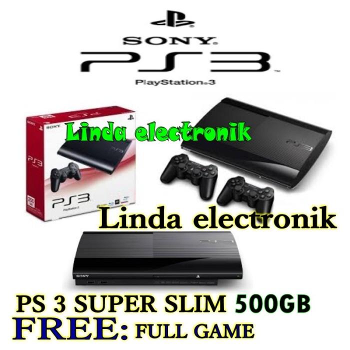 harga Ps 3 super slim 500gb full 37game dan 2stick Tokopedia.com