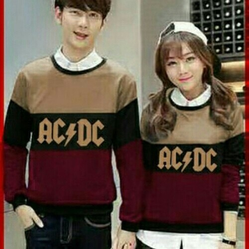 Sweater ACDC Source · couple sweater ACDC maroon cream
