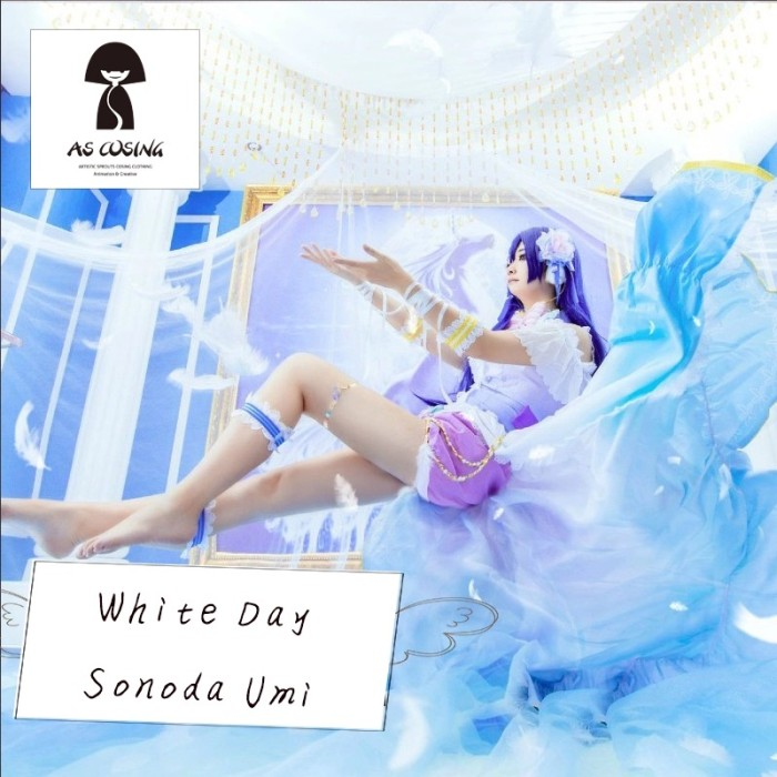 Sonoda umi white day lovelive lolita cosplay costum ascos