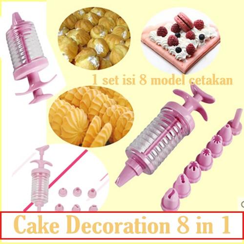 Foto Produk Cake Decoration 8 in 1 Pen Penghias Kue Tart Cookies Icing Pastry Art dari paffie shop