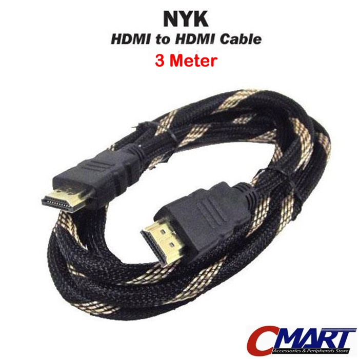 ... NYK Kabel HDMI to HDMI 3m Gold Plated Cable 3 m meter HDMM 300