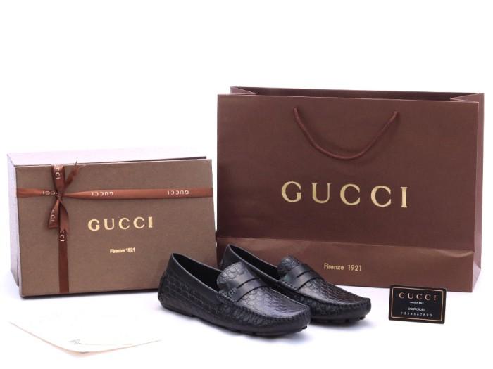 Jual Sepatu Pria Gucci Loafer Moccasin Microguccissima Hitam KULIT ... 05dabf4cc6