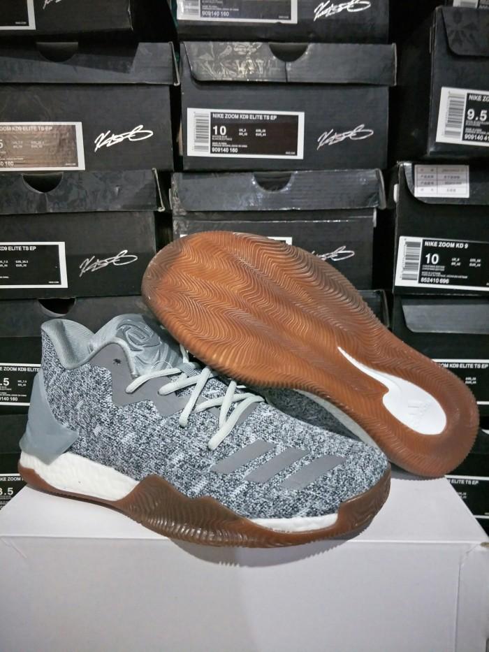 cf43285e632f  free kaos kaki  sepatu basket adidas drose 7 boost low white fuzz