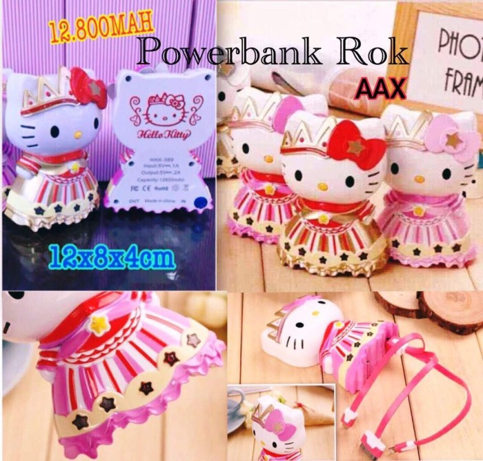 harga Powerbank hello kitty rok princess 12.800 mah Tokopedia.com