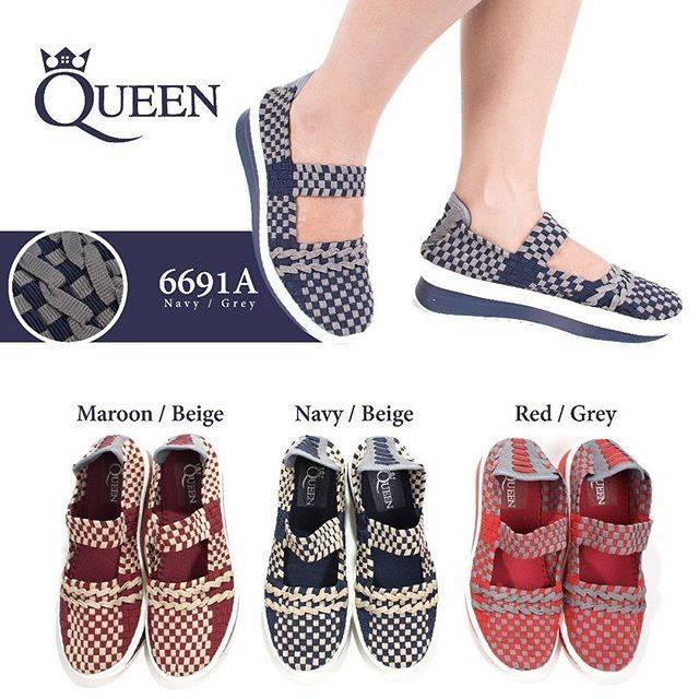 harga Sepatu anyaman queen 6691a wedges Tokopedia.com