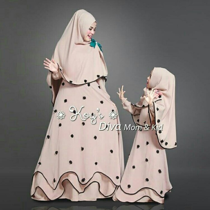 graphic about I Mom named Jual gamis number of syari mother n little ones hafiza quality - DKI Jakarta - bajumuslim-retail outlet Tokopedia