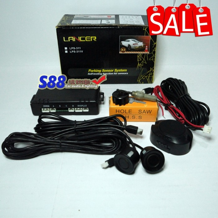 Lancer parking sensor 2 titik with buzzer warning