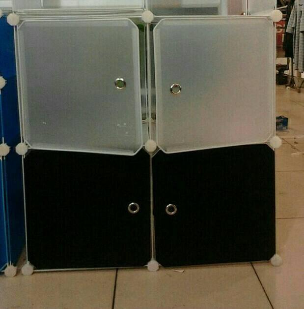 harga Lemari pakaian plastik 2 susun 4 kotak Tokopedia.com