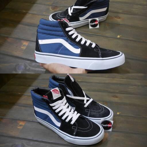 Jual Sepatu Vans Sk8 Hi Navy White