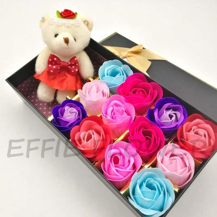 Jual Bunga Mawar Fragrance Flower Rose Bunga Sabun+Boneka Gift Box ... 628a2eee5d