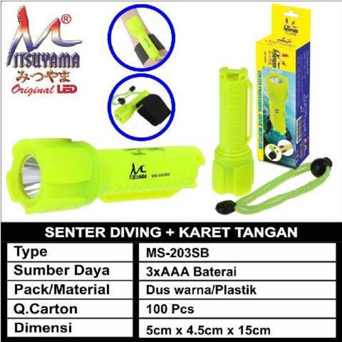 harga Senter selam diving + karet tangan ms-203sb Tokopedia.com