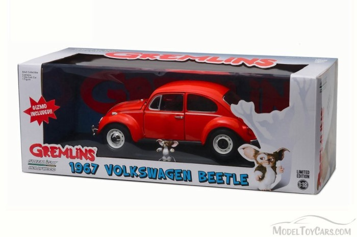 DIECAST GREENLIGHT HOLLYWOOD 1:18 GREMLINS 1967 VOLKSWAGEN BEETLE