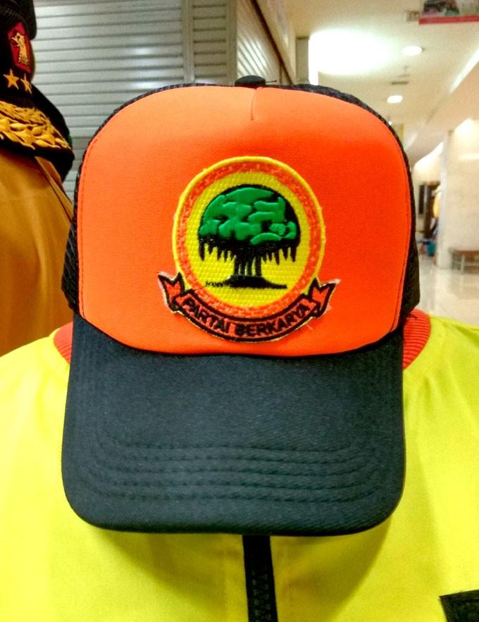 Foto Produk topi partai berkarya dari mitra2 bisnisku