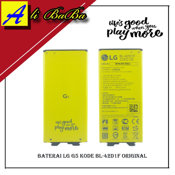 harga Baterai handphone lg g5 bl-42d1f 2800mah batre hp battery original lg Tokopedia.com