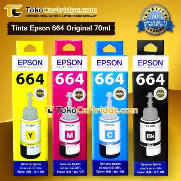 harga Tinta epson 664 original 1 set l100 l110 l120 l200 l210 l220 l300 l310 Tokopedia.com