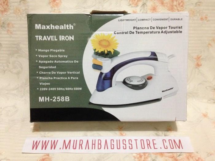 harga Setrika uap mini / setrika lipat steam iron traveling maxhealth murah Tokopedia.com
