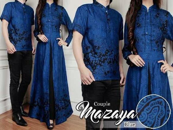 harga Baju couple muslim terbaru mazaya batik sarimbit modern seragam wanita Tokopedia.com