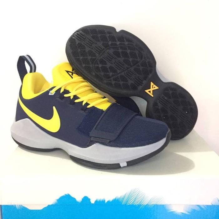 new styles 97ec0 6a699 Jual sepatu basket nike grade original murah paul george PG 1 navy yellow -  Lapak Basket Store | Tokopedia