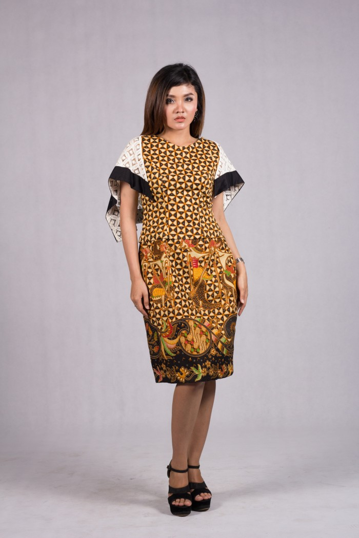 Jual Model Baju Batik Modern Gaun Pesta Dress Batik Solo Srikandi Kombinasi Kota Surakarta Sidomukti Baru Tokopedia