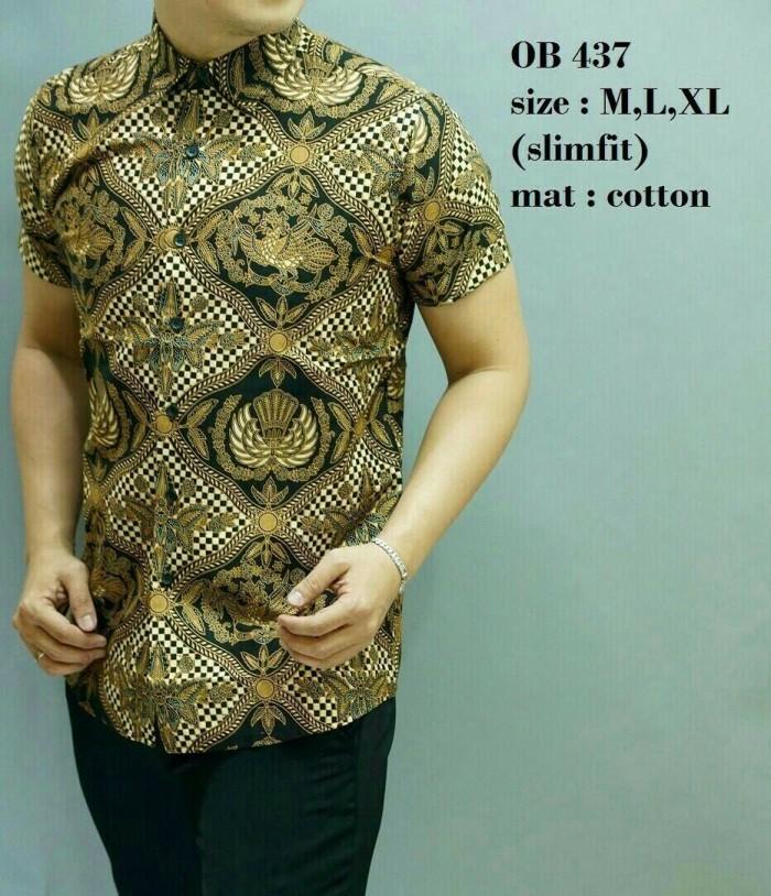 harga Baju kemeja pria batik modern lengan pendek ob-437 Tokopedia.com