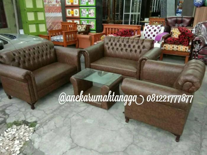 Jual Sofa Jaguar Murah Mini Coklat Tua Free Ongkir Kota