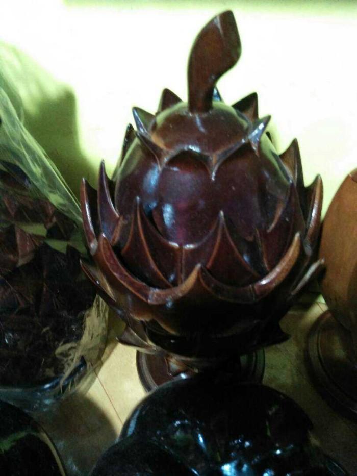 harga Toples kayu jati bentuk buah naga - souvenir unik murah khas jogja Tokopedia.com
