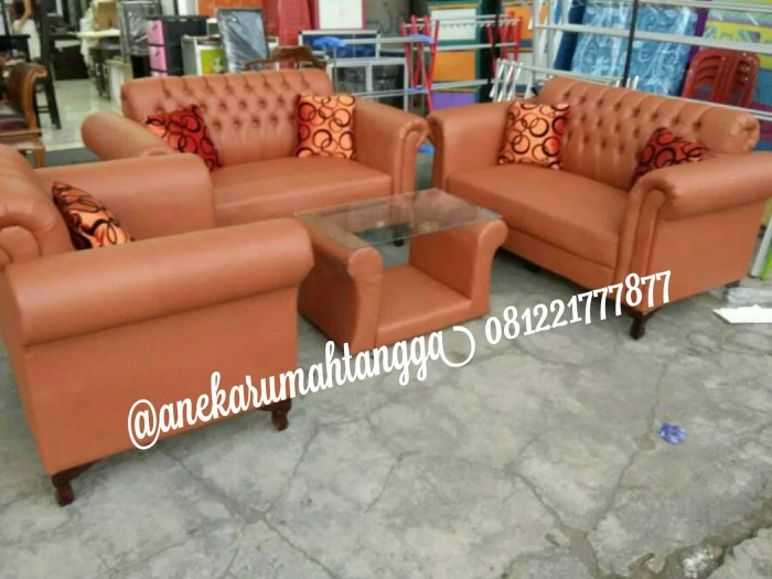 Jual Sofa Jaguar Coklat Mini 221 Mewah Promo Lebaran Free Ongkir