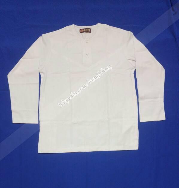 Jual Baju Koko Putih Polos Lengan Panjang Koko Tanpa