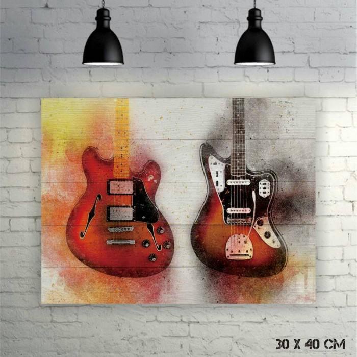 harga Hiasan dinding poster kayu vintage   gitar water paint  d1706007 Tokopedia.com