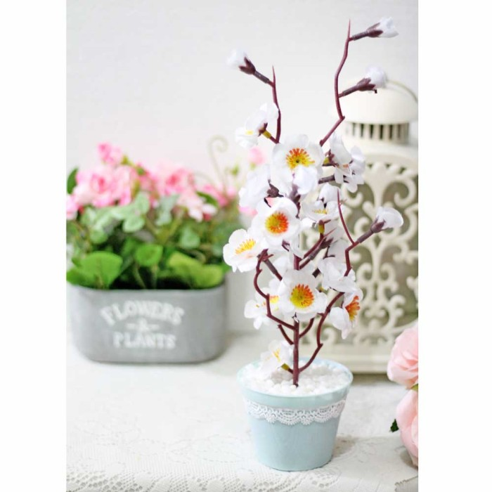 harga Bunga plastik artificial artifisial palsu sakura shabby chic 5 Tokopedia.com