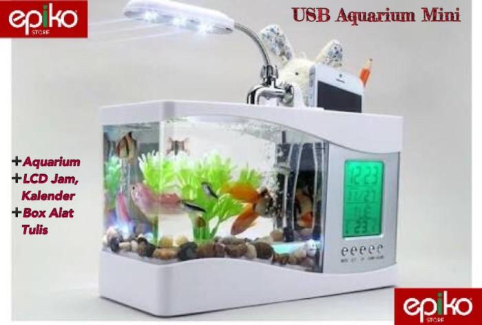 harga Usb Aquarium Mini + Jam Kalender Digital + Box Alat Tulis. Tokopedia.com