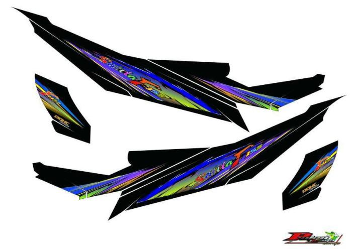 Striping Satria Fu Custom Free desain suka-suka.