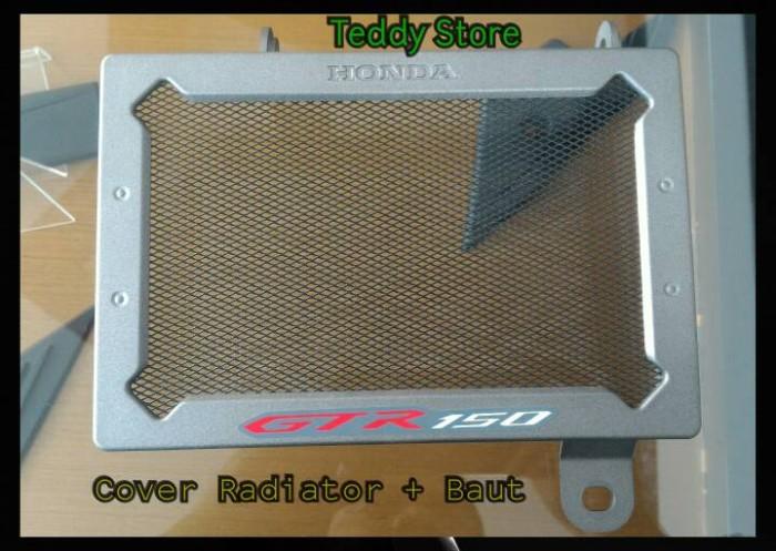Cover tutup pelindung radiator honda new supra x gtr 150 original ahm