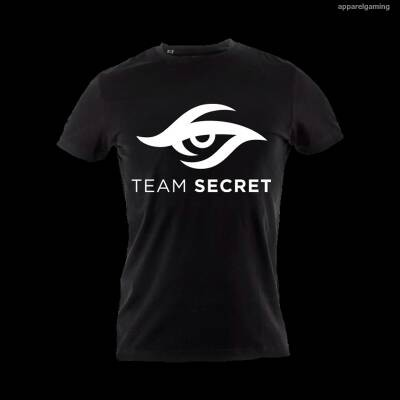 Kaos Gaming - Tshirt Secret Black white logo