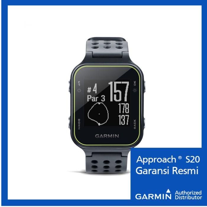 Garmin Approach S20 Black - Jam Tangan Golf Hitam